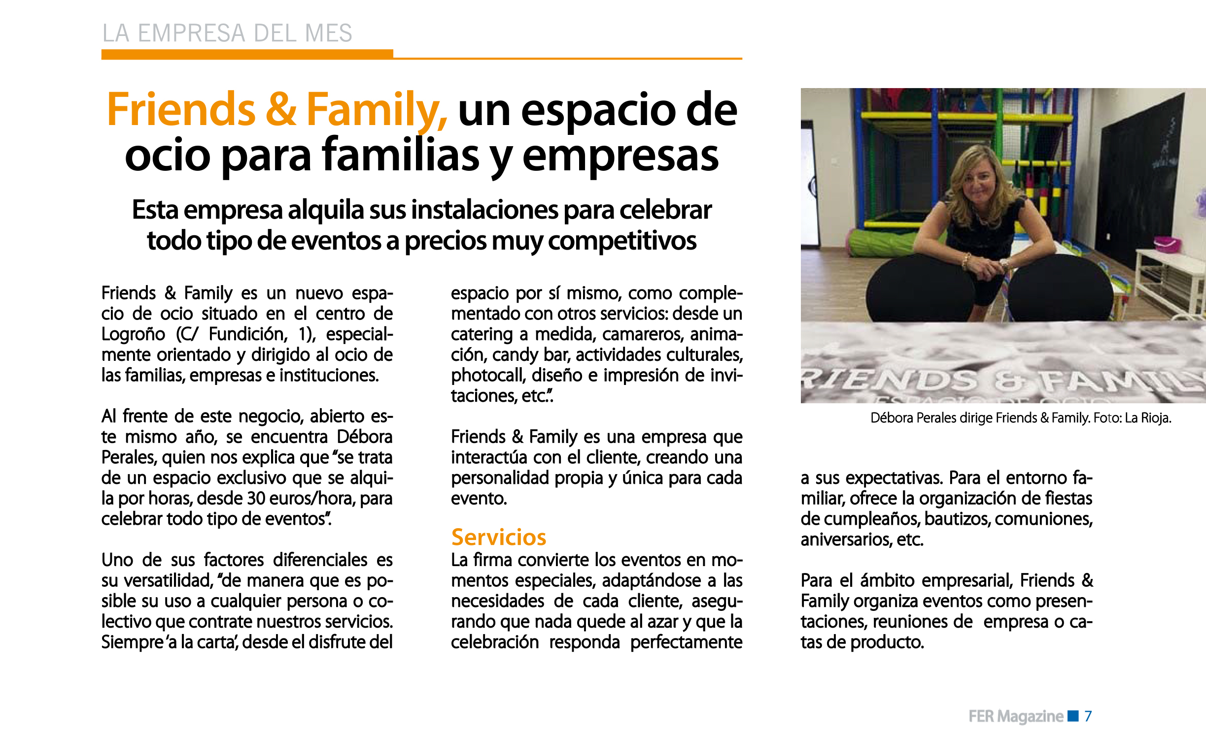 FRIENDS & FAMILY EMPRESA DEL MES