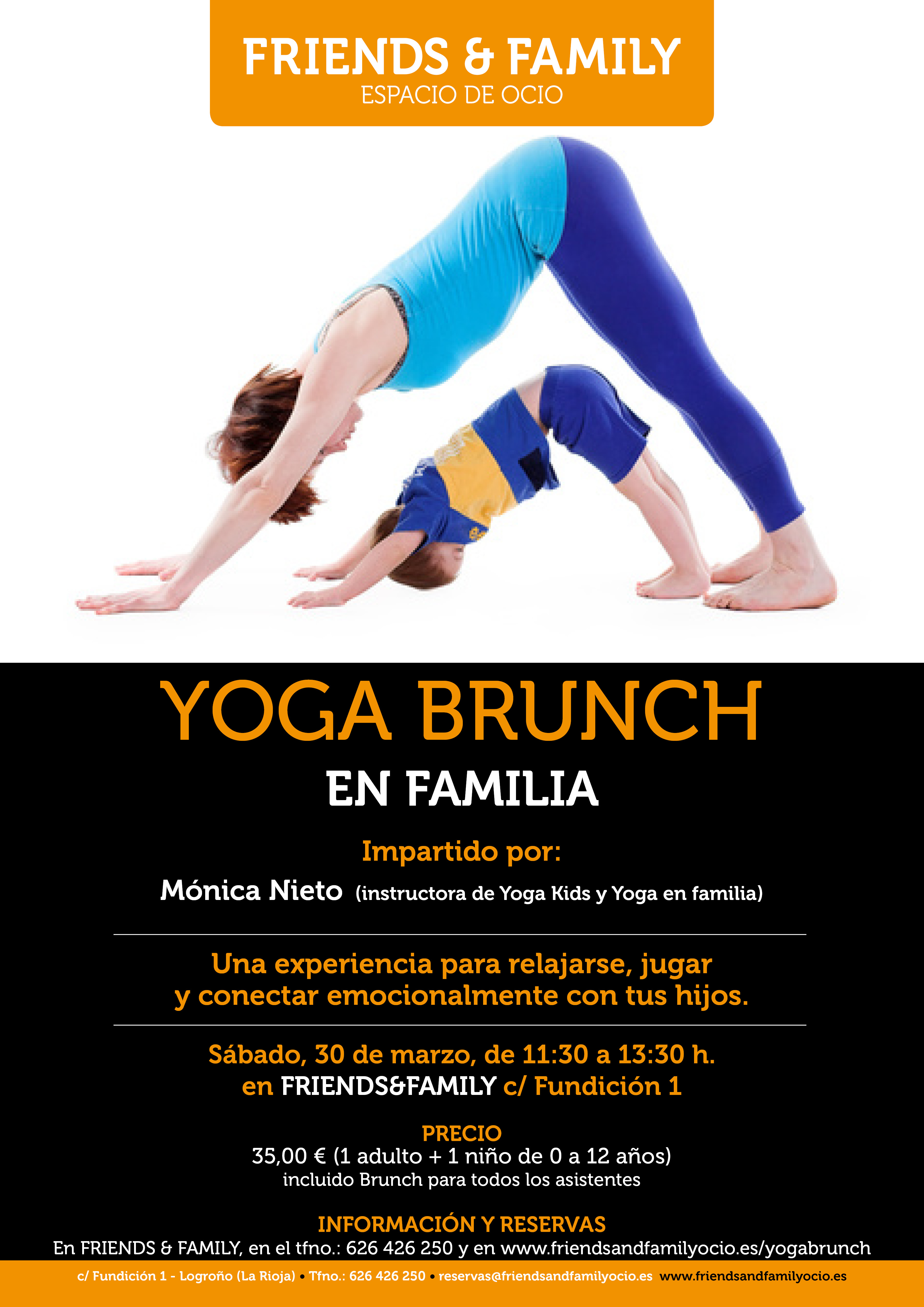yoga brunch en familia